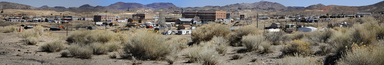 Five-Picture Photomerge of Goldfield, Nevada (March 10, 2011)